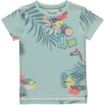 T-shirt Savian soft mint botanic