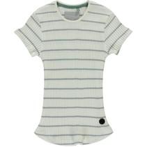 T-shirt Brit light grey stripe