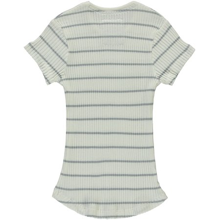 Levv Levv T-shirt Brit light grey stripe
