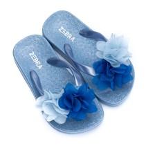Zebra trends slippers flower blue