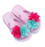 Zebra Trends Zebra trends slippers flower softpink