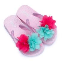 Zebra trends slippers flower softpink