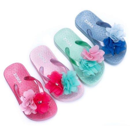 Zebra Trends Zebra trends slippers flower hotpink