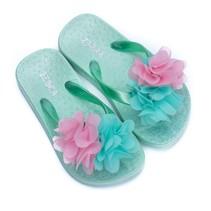 Zebra trends slippers flower mint