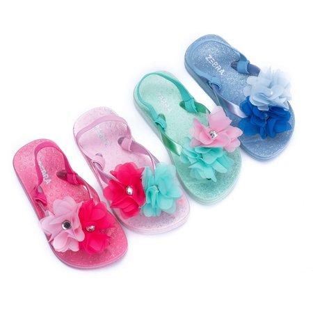 Zebra Trends Zebra trends slippers flower met hakbandje blue