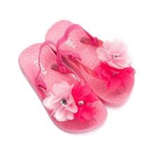 Zebra trends slippers flower met hakbandje hotpink