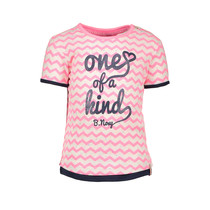 T-shirt zigzag printed bubblegum rainbow melee