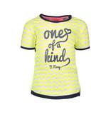 B.Nosy B.Nosy T-shirt zigzag printed electric yellow rainbow melee