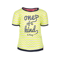 T-shirt zigzag printed electric yellow rainbow melee