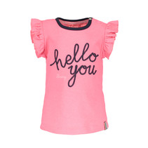 T-shirt with hello you embroidery candy