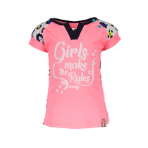 T-shirt with contrast print sleeves ao sprinkle