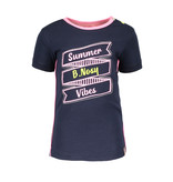 B.Nosy B.Nosy T-shirt with print and outline embroidery midnight blue