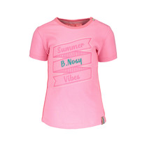 T-shirt with print and outline embroidery bubblegum