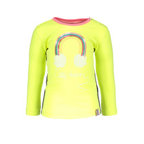 Longsleeve with rainbow electric yellow