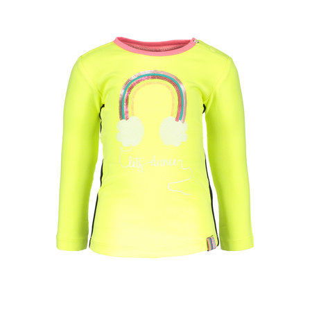 B.Nosy B.Nosy longsleeve with rainbow electric yellow