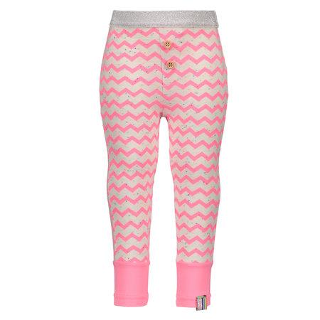 B.Nosy B.Nosy legging mini zigzag printed bubblegum rainbow melee