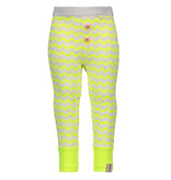 B.Nosy B.Nosy legging mini zigzag printed electric yellow rainbow melee