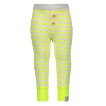 Legging mini zigzag printed electric yellow rainbow melee