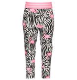 B.Nosy B.Nosy legging mini white flamingo zebra ao