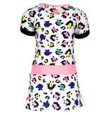 B.Nosy B.Nosy jurkje with contrast sleeve/ waistband ao sprinkle