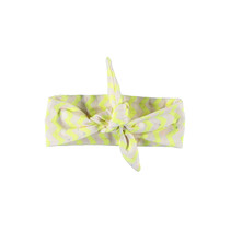 Haarband mini zigzag electric yellow rainbow melee