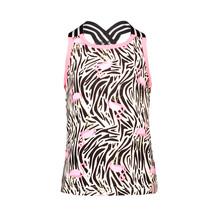 Singlet with elastic white flamingo zebra ao