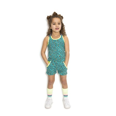 B.Nosy B.Nosy singlet with elastic hot turquoise pinther ao midnight electric yellow