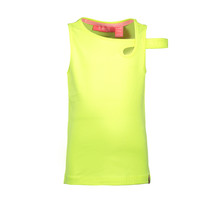 Singlet with extra strap on arm electric yellow
