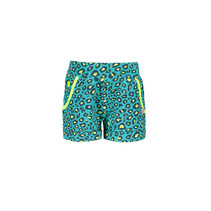 Short jersey hot turquoise panther ao midnight electric yellow