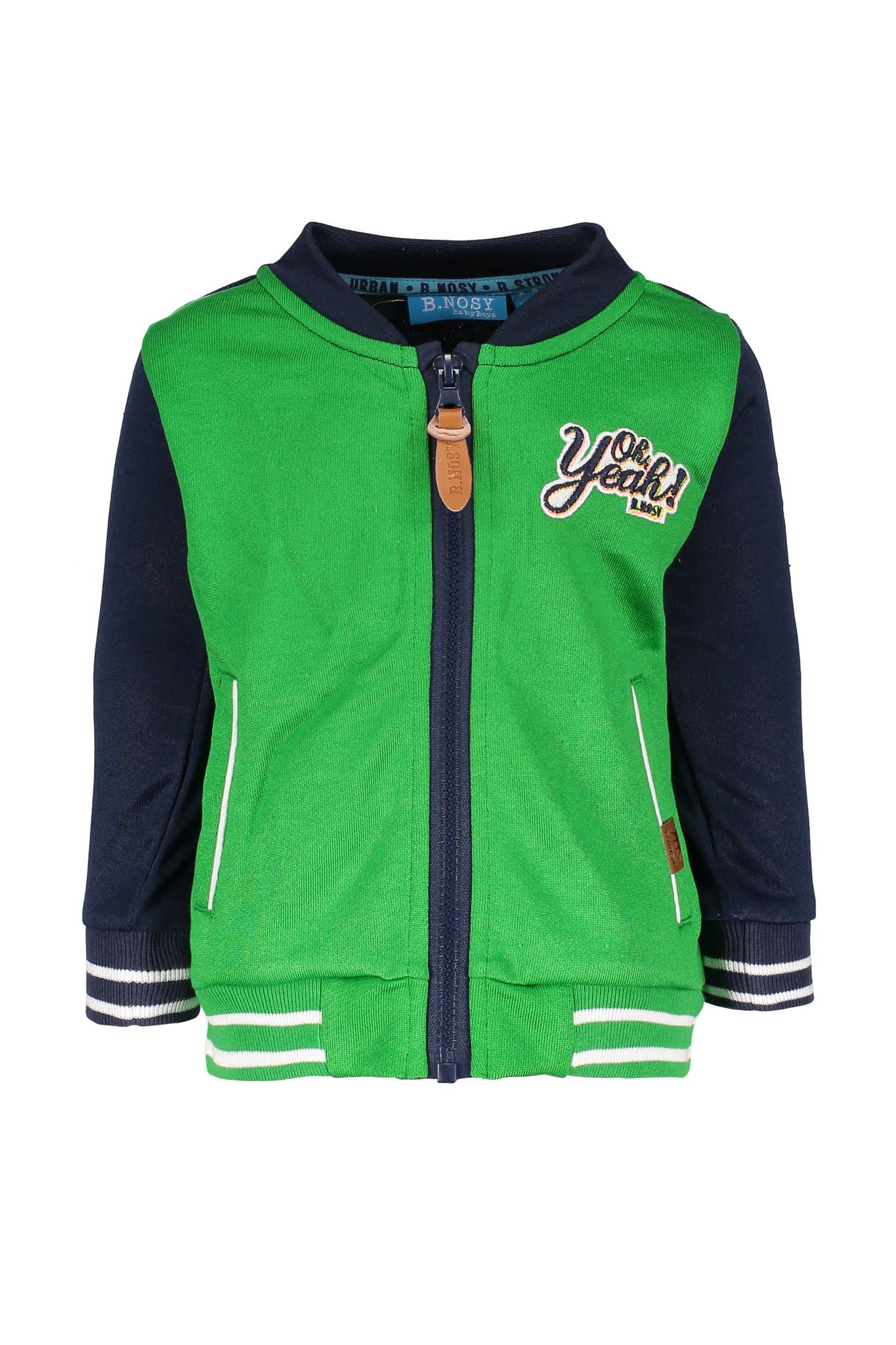 B.Nosy B.Nosy baseball jasje with tape on sleeve midnight blue