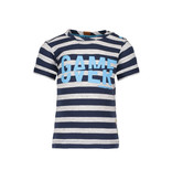 B.Nosy B.Nosy T-shirt game over stripe midnight blue ecru melee
