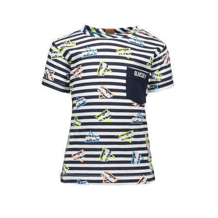 B.Nosy B.Nosy T-shirt ao bus on stripe