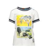 B.Nosy B.Nosy T-shirt safari with rib neck and sleeves chalk white