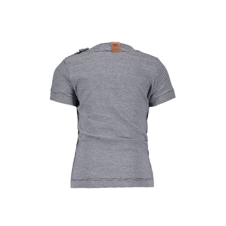 B.Nosy B.Nosy T-shirt orlando y/d small stripe m.blue/ white