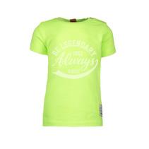 T-shirt garment dye neon yellow