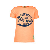T-shirt garment dye neon orange