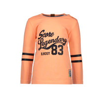 Longsleeve garment dye neon orange
