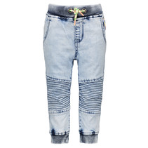 Spijkerbroek with quilted knee part ocean denim