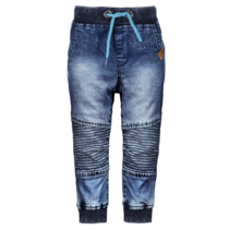 Spijkerbroek with quilted knee part midnight denim