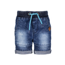 Short with rope in waistband midnight denim