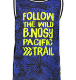 B.Nosy B.Nosy singlet with rib at neck and armhole ecru melee leaves ao