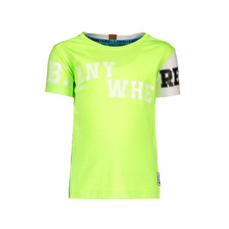 B.Nosy B.Nosy T-shirt with contrast sleeve neon yellow