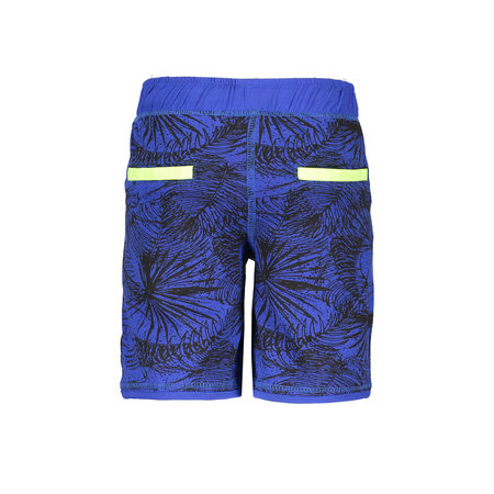 B.Nosy B.Nosy short with elasticated waistband ecru melee leaves ao