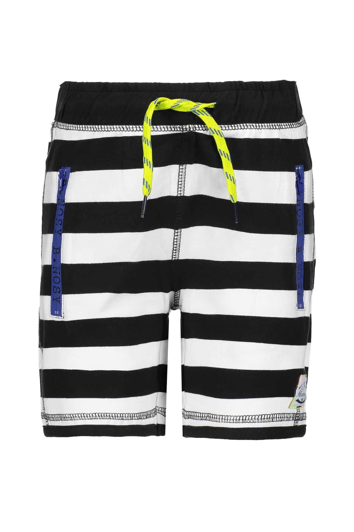 B.Nosy B.Nosy short with elasticated waistband y/d black- chalk white