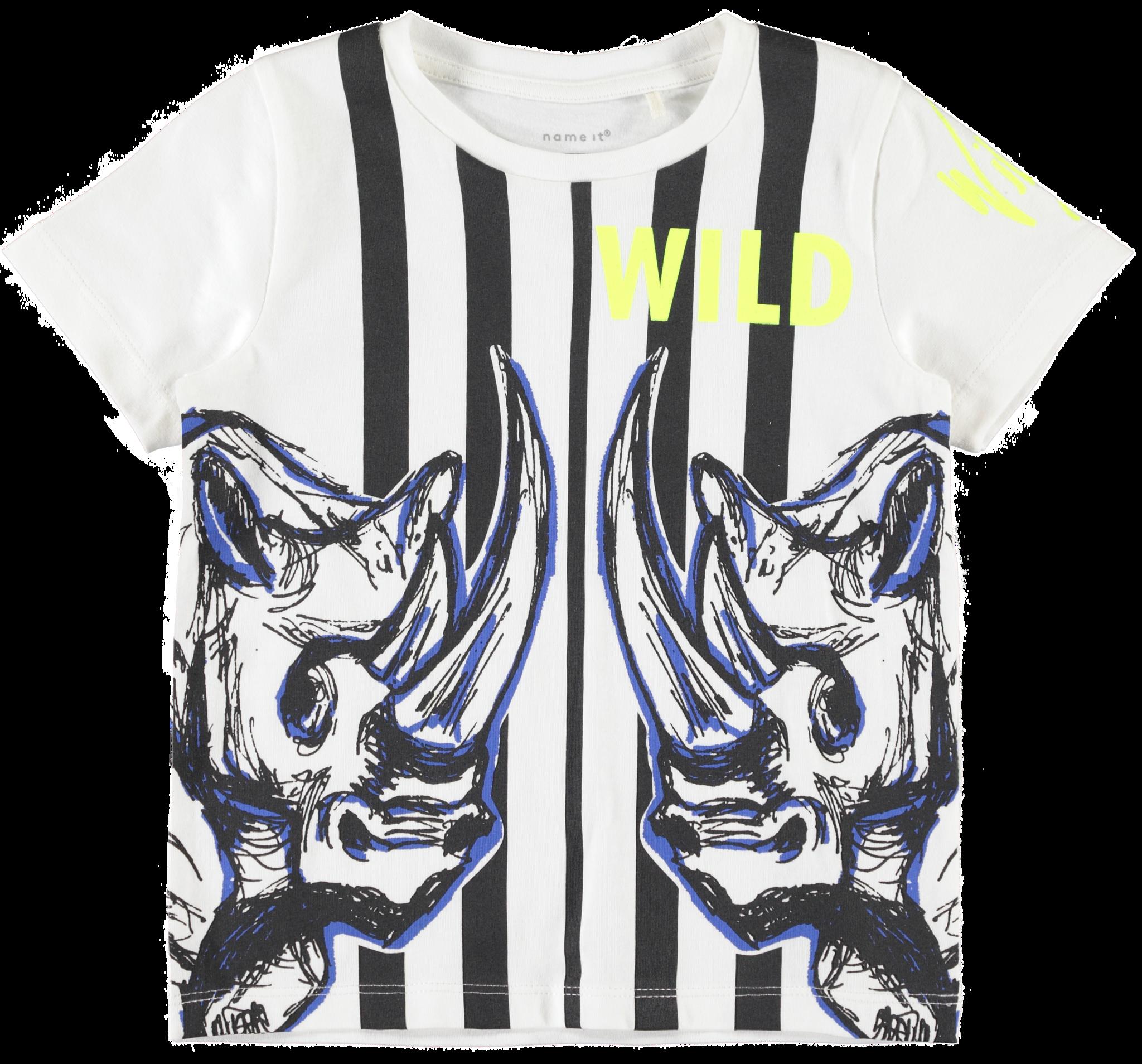 Name It Name It T-shirt Fawild snow white