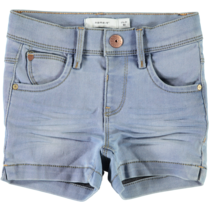 Short Salli Cille light blue denim