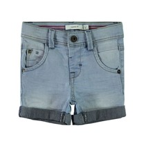 Short Sofus Cartus light blue denim
