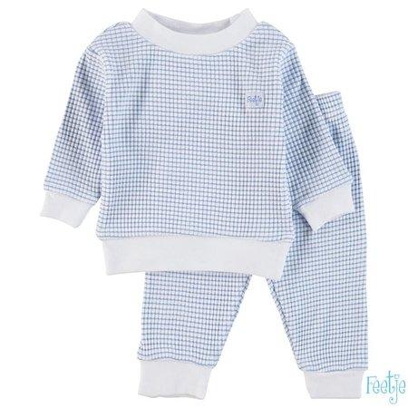Feetje Feetje pyjama wafel baby Blue