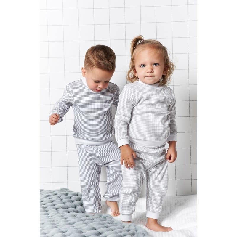 Feetje Babykleding.Feetje Pyjama Wafel Baby Grijs Hippe Mensjes