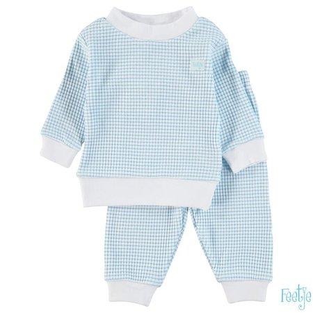 Feetje Feetje pyjama wafel baby Azuur